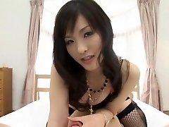 Exotic Japanese model Nao Ayukawa in Concupiscent Doggy Style, Stockings JAV clip
