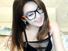brunette babe being playful on livecam