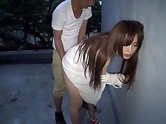 Superlatively Good Japanese whore Megu Hazuki in Exotic doggy style, outdoor JAV video