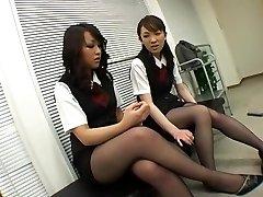Asian Black Pantyhose Femdom