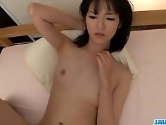 Ruri Okino tries cock in her face hole and in her vagina