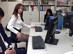 Exotic Japanese model Remi Sasaki, Ren Ayase, Miyuki Ojima, Hikaru Shiina in Hottest secretary, couple JAV movie