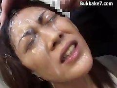Oriental Secretary Bondage Bukkake