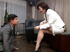 asian foot femdom smokin' with cigarette holder