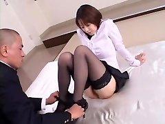 Crazy Japanese girl Misa Nishida in Exotic Cunnilingus, Stockings JAV movie