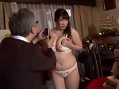Horny Japanese wench Chitose Saegusa in Crazy public, striptease JAV video