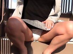 Asian legal age teenager filmed upskirt