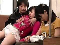 Asian teen having hook-up in public place