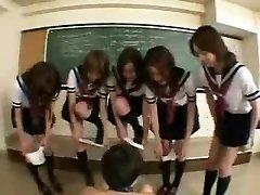 Chinese schoolgirls in action