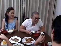 46yr old Japanese Mom Instructs not her Step Son-in-law (Uncensored)
