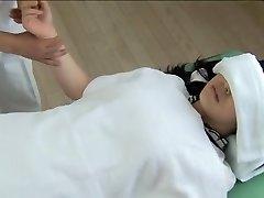 Gorgeous Jap gets screwed in mischievous spy cam massage clip