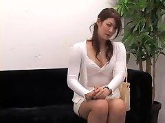Adorable Jap rides a ramrod in hidden cam interview movie