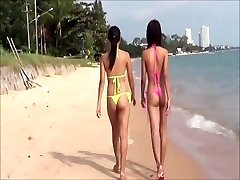 Hawt  Young Thai girls in thong bikini