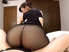 Japanese mature black pantyhose fuckfest
