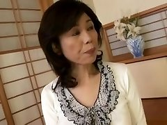Breasty Japanese granny drilled inexperienced
