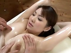 Super-sexy Japanese model Yuna Aino in Horny Threesome, Rubdown JAV scene