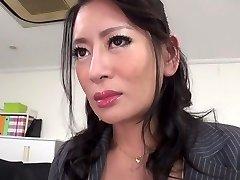 Hottest Japanese girl Rei Kitajima in Insane nylons, blowjob JAV clip