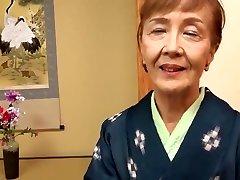 Japanese 70years old granny boned