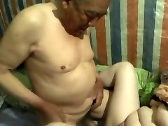 japanese grandpa cum inside grandma