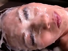 Japanese Girl - Giant Amount Of Cum On Her Face