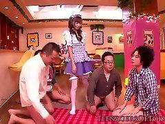 Cosplay nippon legal age teenager blowbanging until bukkake