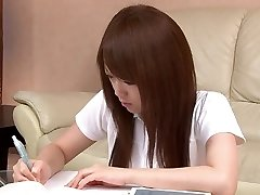 Sexy Asian student likes playing with her cum-hole