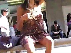 Asian Flashing In Public No Panties