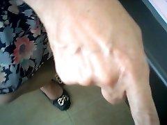 oriental female doctor checks (hidden web camera)