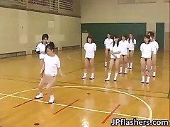 Super hot Japanese gals flashing