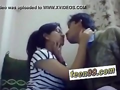 Indian college studend smooching deeply to love