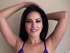 SunnyLeone Sunny Leone in wondrous  purple lingeri