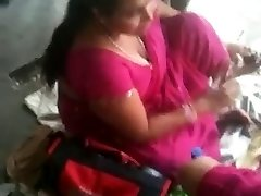 Huge-boobed Indian MILF on a Instruct Station 2 (o) (o)