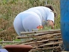 Spying Mama Butt - Chubby Plumper Granny - Mature Ass Booty
