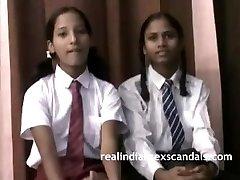 Real Indian School Girls In Uniform Unwrap Naked
