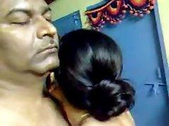 Sexy Namų Indijos Brandus Plaukuotas Pora Nuostabus Seksas