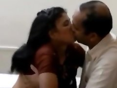 Indian wife pleasuring her hubby boss for his premossion