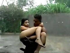 Srilankan school woman dominated by neighbor College boy