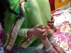 just married bride Saree in utter HD desi vid home mast chu