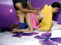 Indian couple hot romance in room