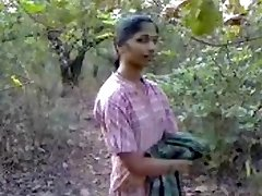 Firm Indian nipples and hairy pussy recorded in park