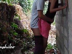 sri lankan school couple after college public outdoor leaked නැන්දගෙ දුව