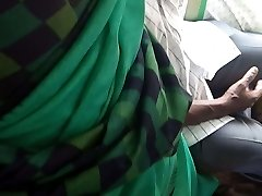 Tamil steamy saree aunty dicking and grouped in bus