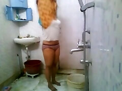 Sexy Indian College Babe In Hostel Bathroom MMS