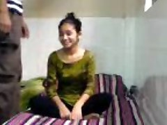Sinless Indian Coed Sucks Copulates in BFs Dorm Room