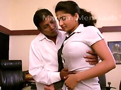 Desi School Nymph Romancing With Professor For Promotion - Meaty Boob Pressed Bgrade