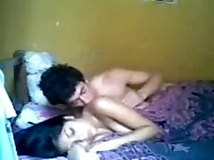 School Girl sex with boy friend (no one at home)