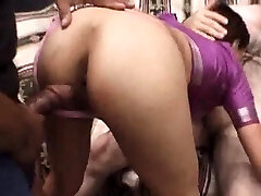 Stripped Indian Stunner Fucked In A Three-way