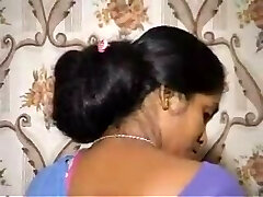 Floor length Indian hair wash by spouse