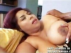 Massive Bhangra Butt Oriental Paki Lady luvs Big West Indies Bamboo Penis