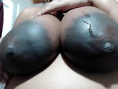 BIGGEST AREOLAS Idian Lady likes MY N-gg-r Balls
